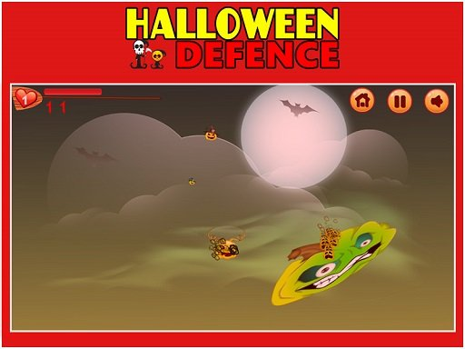 Play Halloween Defence 1 Online