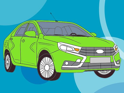 Play Russian Cars Coloring Book Online