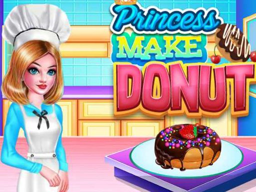 PRINCESS MAKE DONUT COOKING