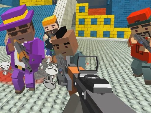 GunGame shooting warfare: blocky gangster